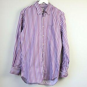 Peter Millar Striped Long Sleeve Button Down Shirt